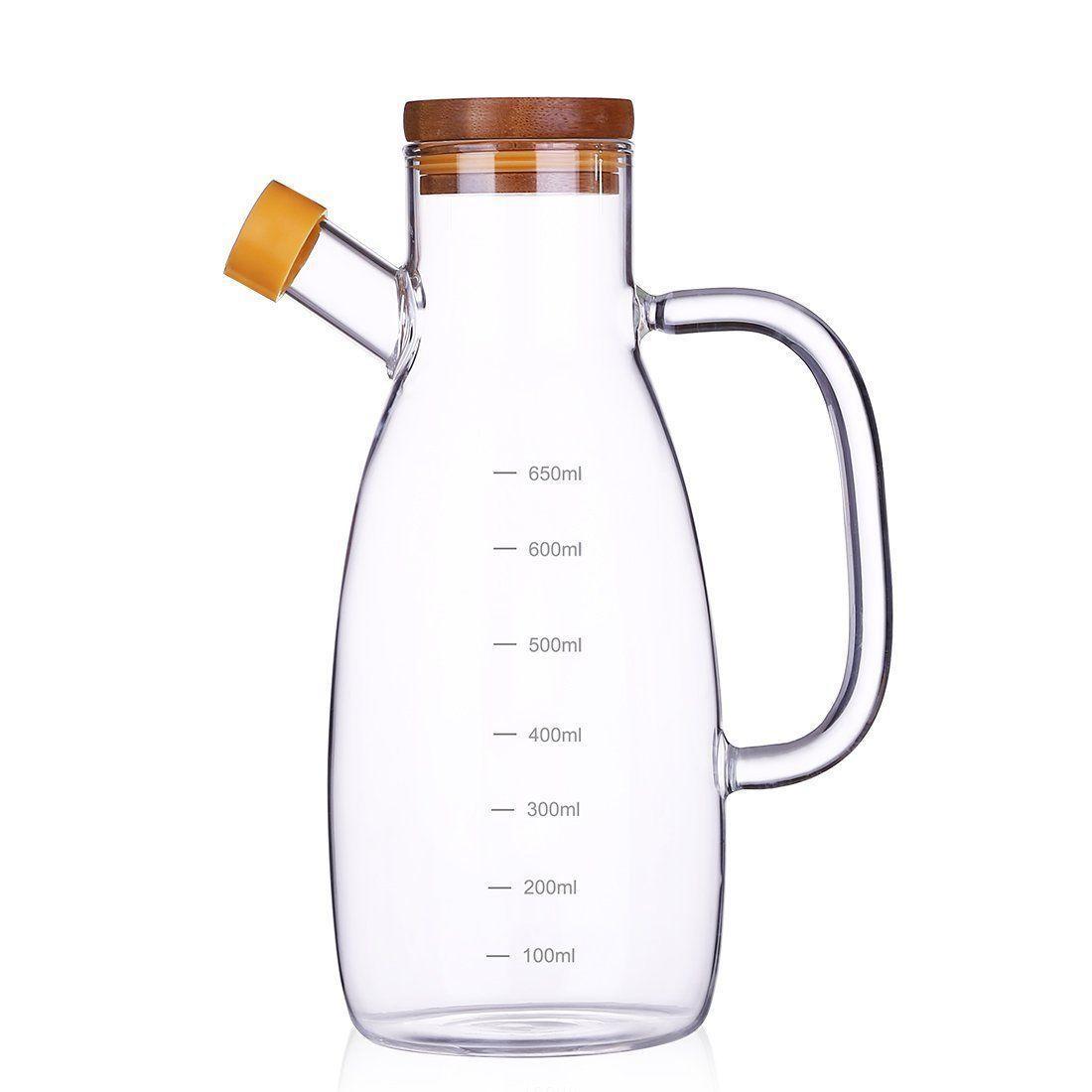 23 Oz Olive Bottle Set Vinegar Dispenser Container Pourer Sprayer Kitchen Storage Container At