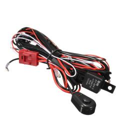 wiring harness kit 12v 40a 300w fuse relay on off switch for led work fog [ 1000 x 1000 Pixel ]