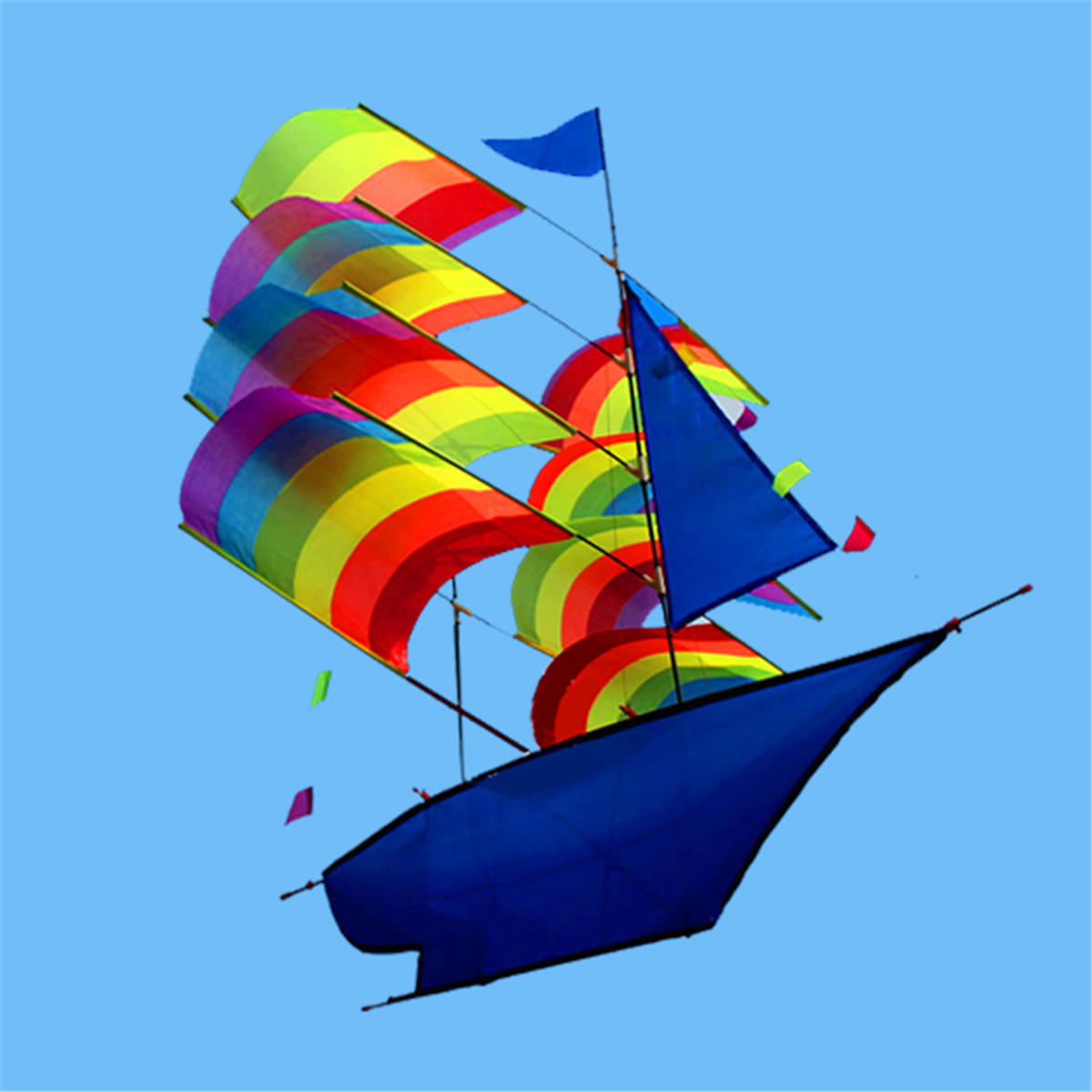 Huge 37 3d Stereo Sailboat Kite Big Size Flying Free