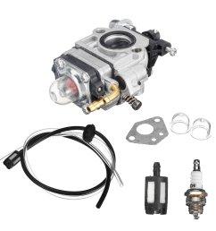 43cc 47cc 49cc carb carburetor for 2 stroke engine scooter dirt pocket bike cod [ 1200 x 1200 Pixel ]