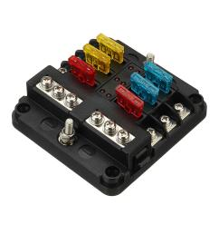 12v 24v 6 way blade fuse holder box block case for car truck boat 12v marine fuse box [ 1200 x 1200 Pixel ]