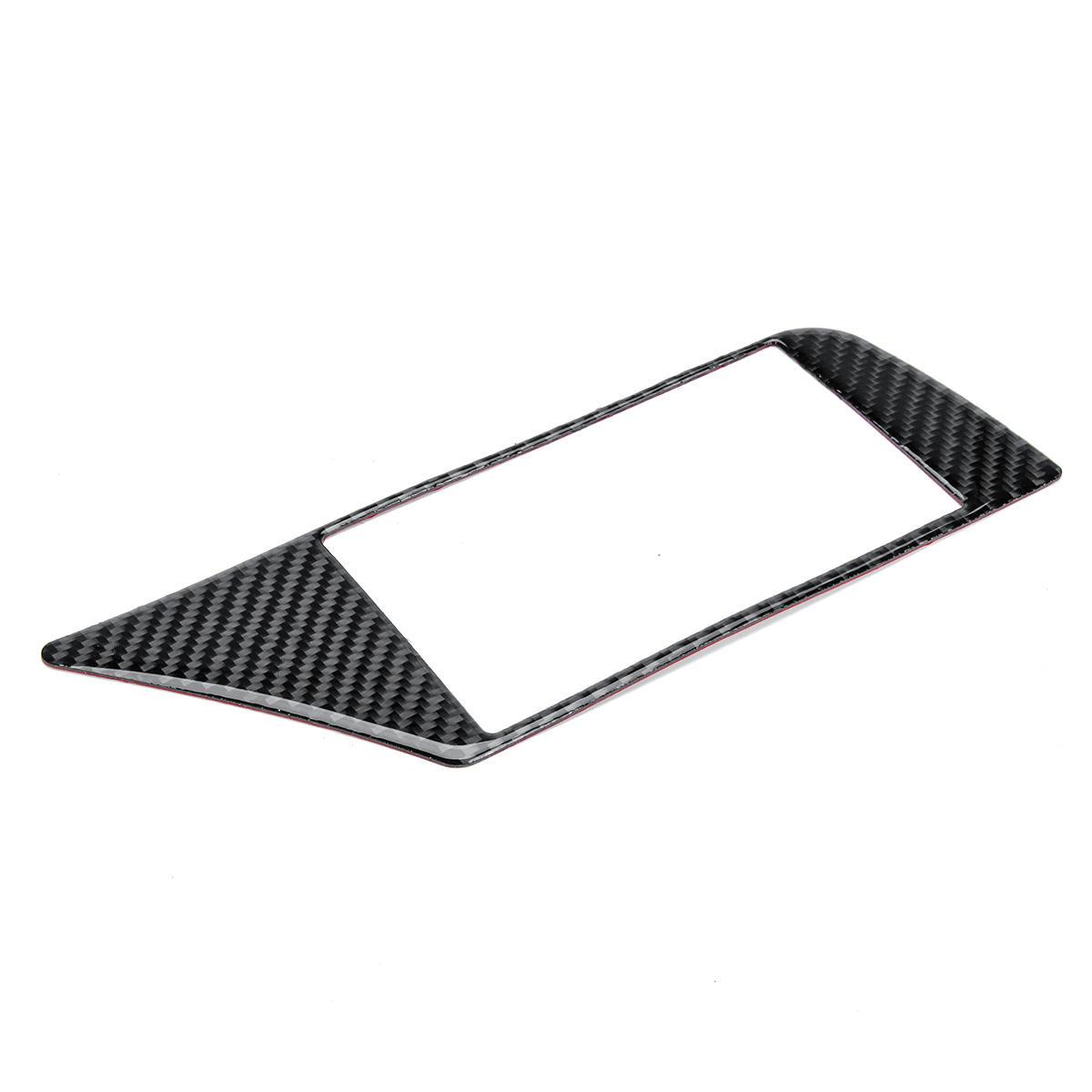 carbon fiber gps navigation panel frame cover car stickers
