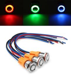 12v 24v 4pin 12mm metal on off led push button switch wiring harness switch [ 1200 x 1200 Pixel ]