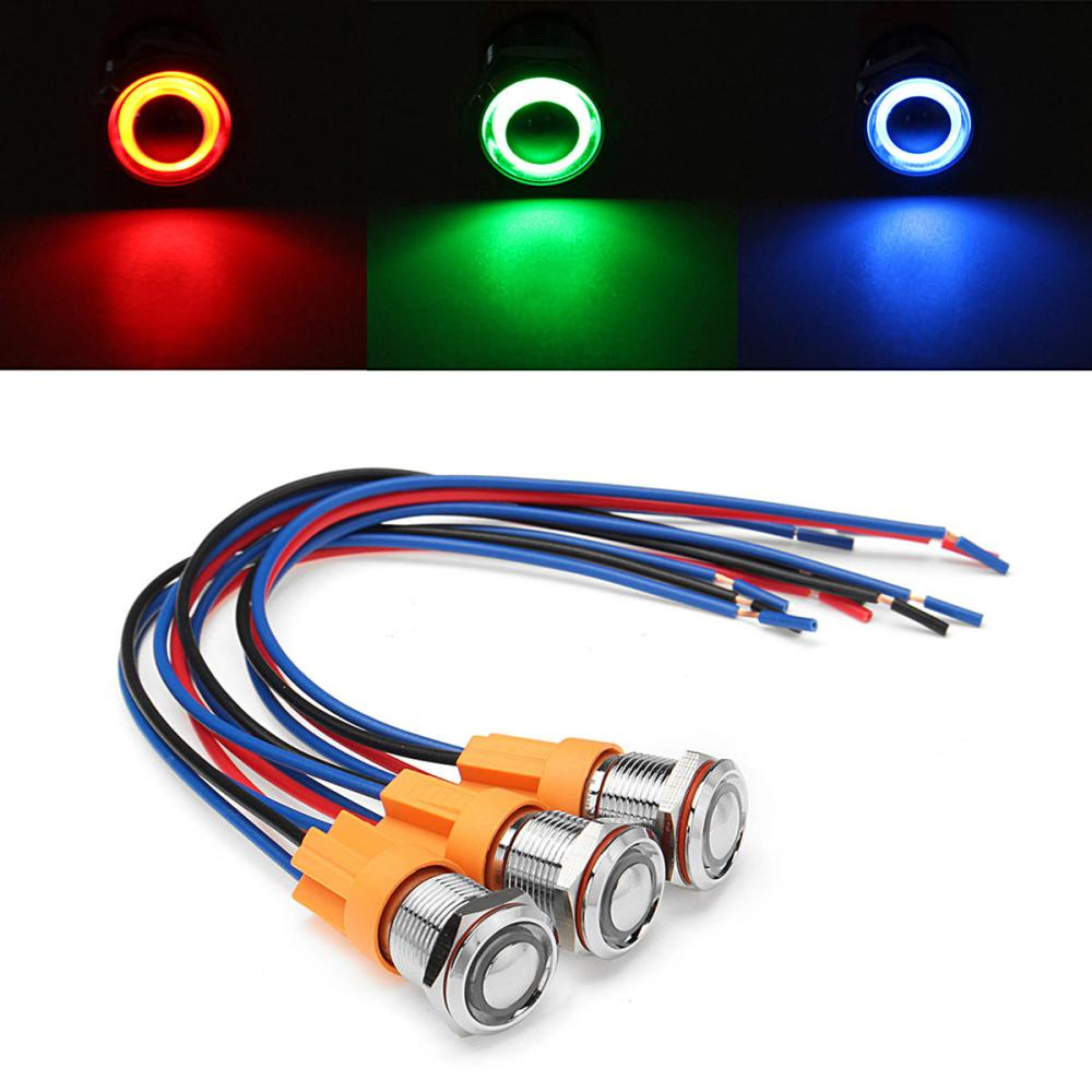 medium resolution of 12v 24v 4pin 12mm metal on off led push button switch wiring harness switch