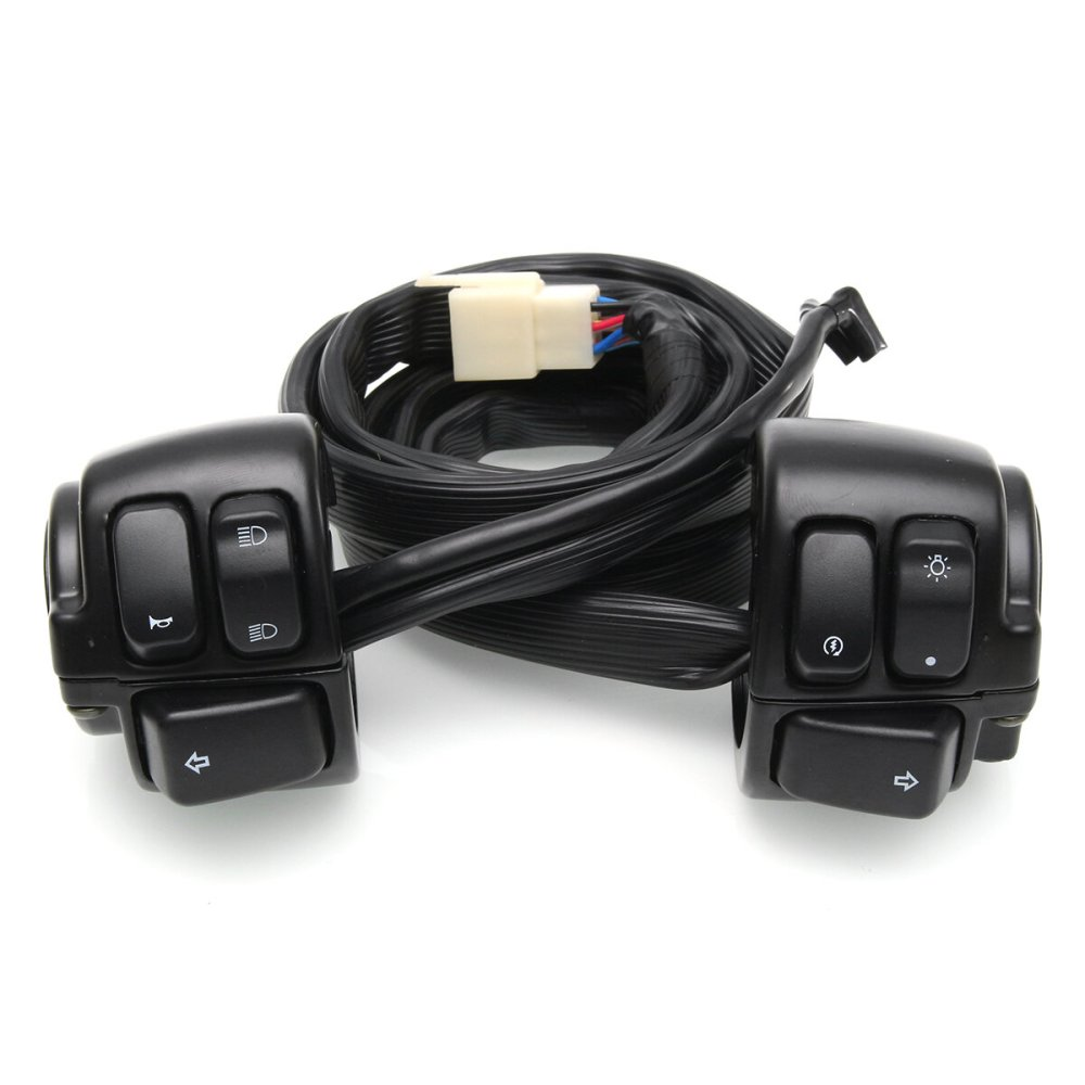 medium resolution of motorcycle handlebar switch control with wire harness for harley davidson