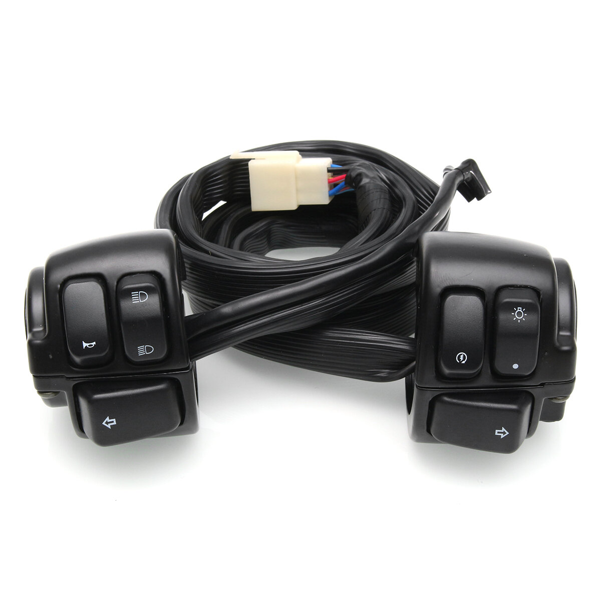 hight resolution of motorcycle handlebar switch control with wire harness for harley davidson