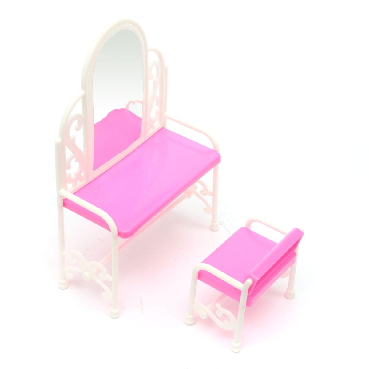 bedroom dressing table chair worn leather repair lovely set for barbies dolls dollhouse furniture toys cod