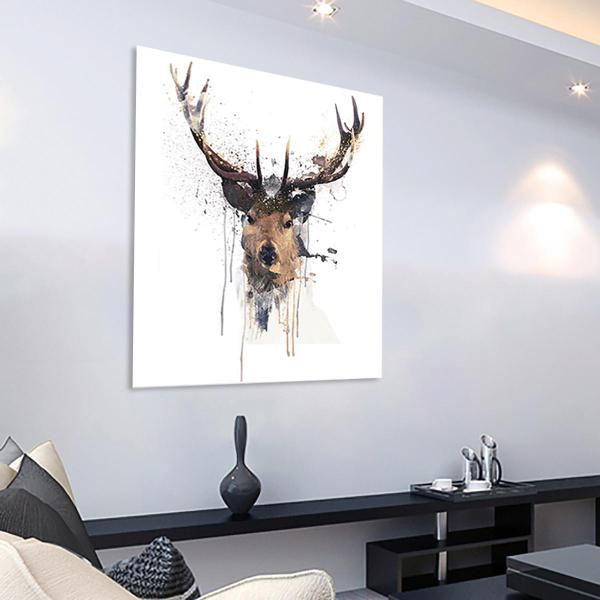 16'' Abstract Stag Deer Canvas Printed Paintings Framed Unframed Banggood