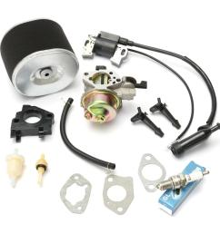 carburetor with ignition coil spark plug air filter for honda gx390 gx340 cod [ 1200 x 1200 Pixel ]