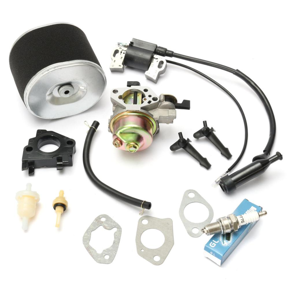 medium resolution of carburetor with ignition coil spark plug air filter for honda gx390 gx340 cod