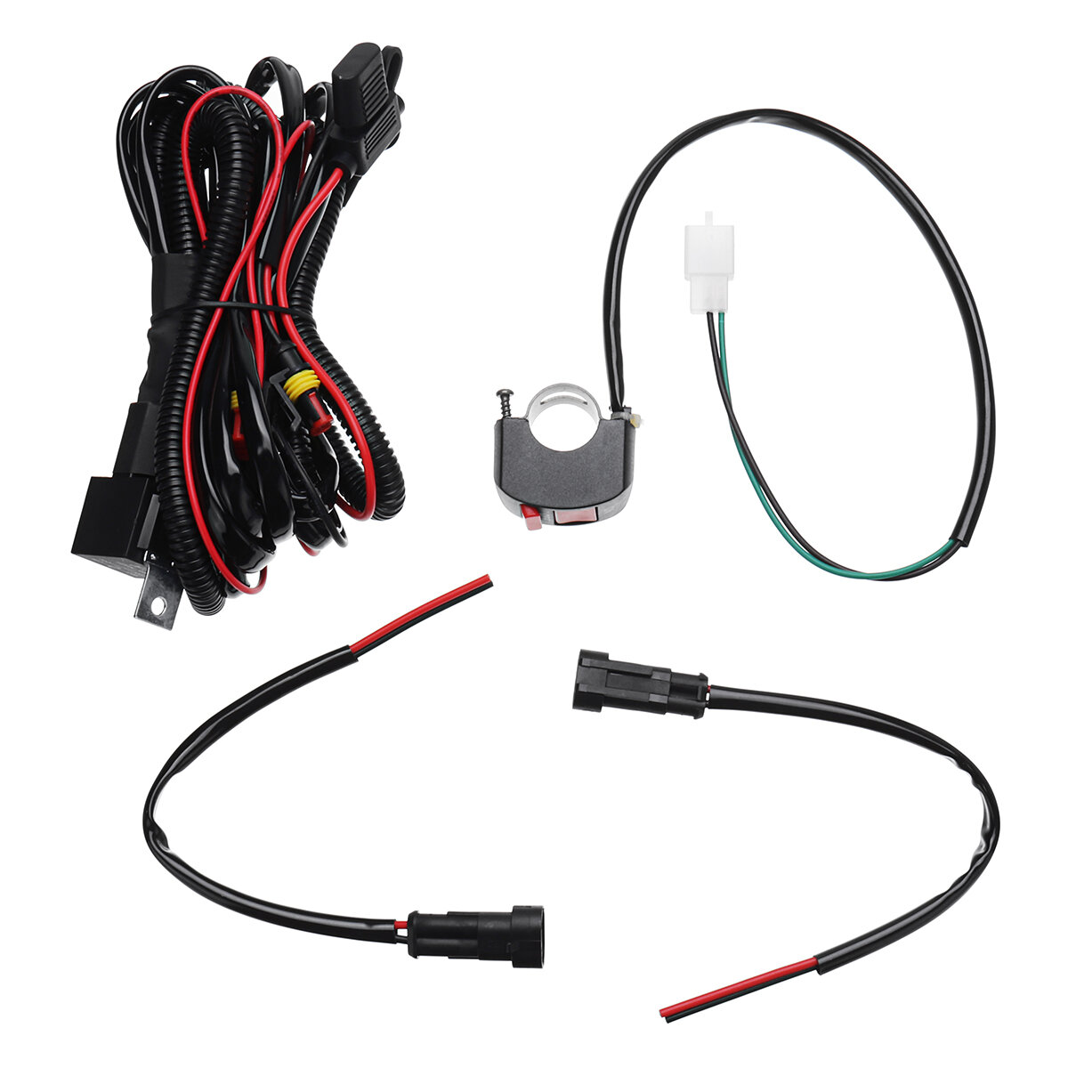 hight resolution of 10a relsy switch fog light spot wiring loom harness kit for universal motorcycle car