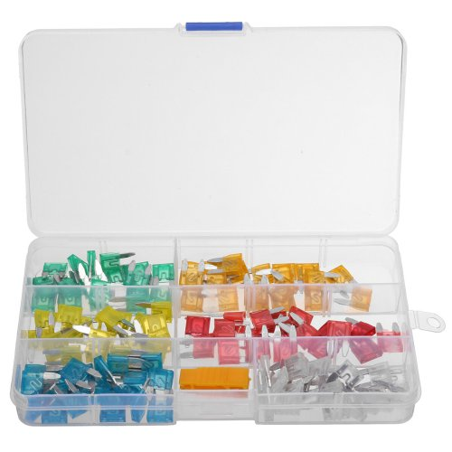 small resolution of 120pcs mini blade fuse box assortment set automotive truck fuses holder kit cod