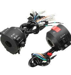 motorcycle handlebar horn turn signal electrical start switch 12v for honda [ 1200 x 1200 Pixel ]