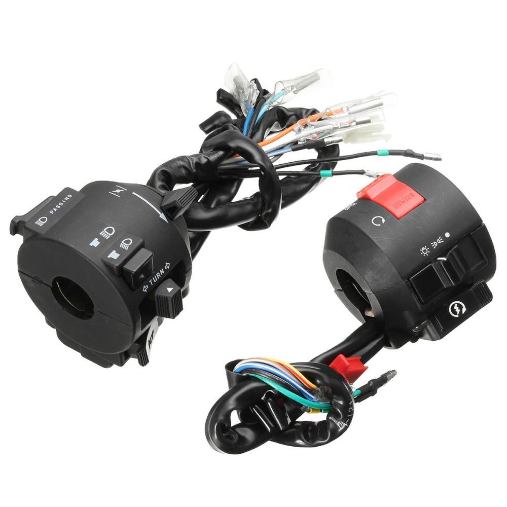 medium resolution of motorcycle handlebar horn turn signal electrical start switch 12v for honda