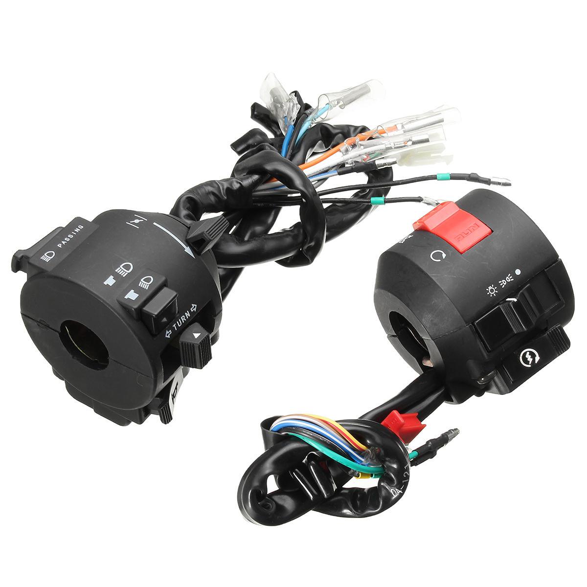 hight resolution of motorcycle handlebar horn turn signal electrical start switch 12v for honda