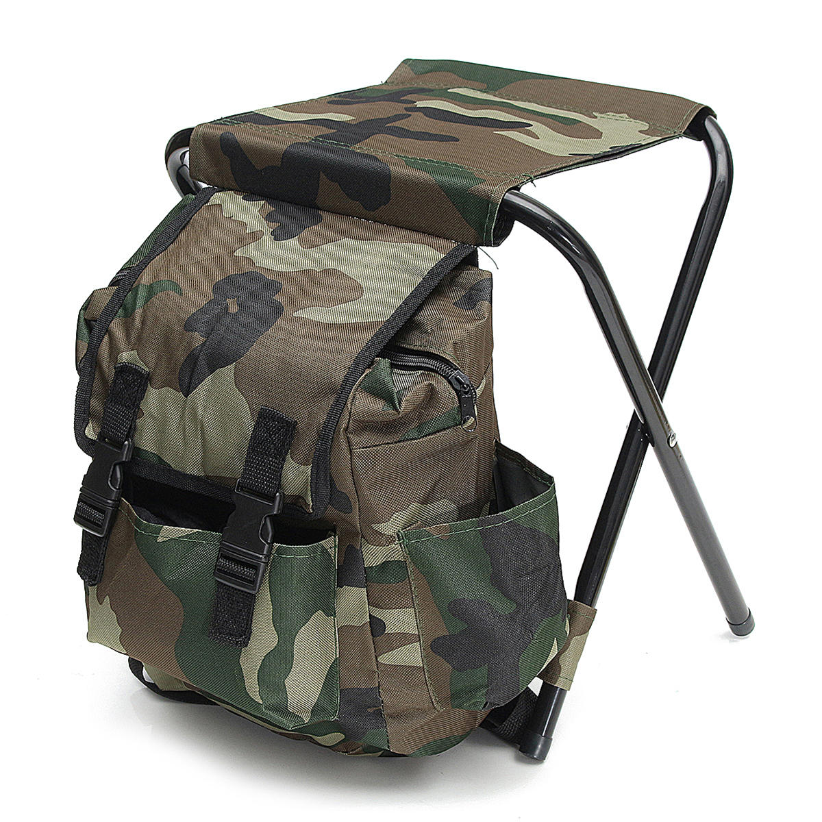 Folding Chair Backpack Outdoor Portable Folding Backpack Chair Foldable Stool Camping Picnic Max Load 100kg