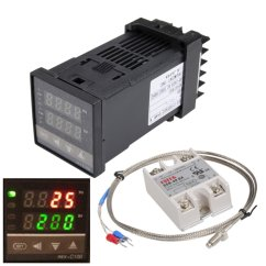 Pid Temperature Controller Kit Wiring Diagram Solid To Liquid Gas 110 240v 1300 Rex C100 Digital
