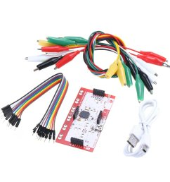 alligator clip jumper wire standard controller board kit for makey makey science toy [ 1200 x 1200 Pixel ]