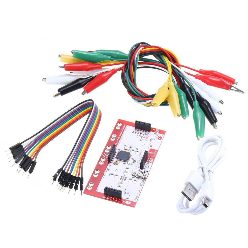 medium resolution of alligator clip jumper wire standard controller board kit for makey makey science toy