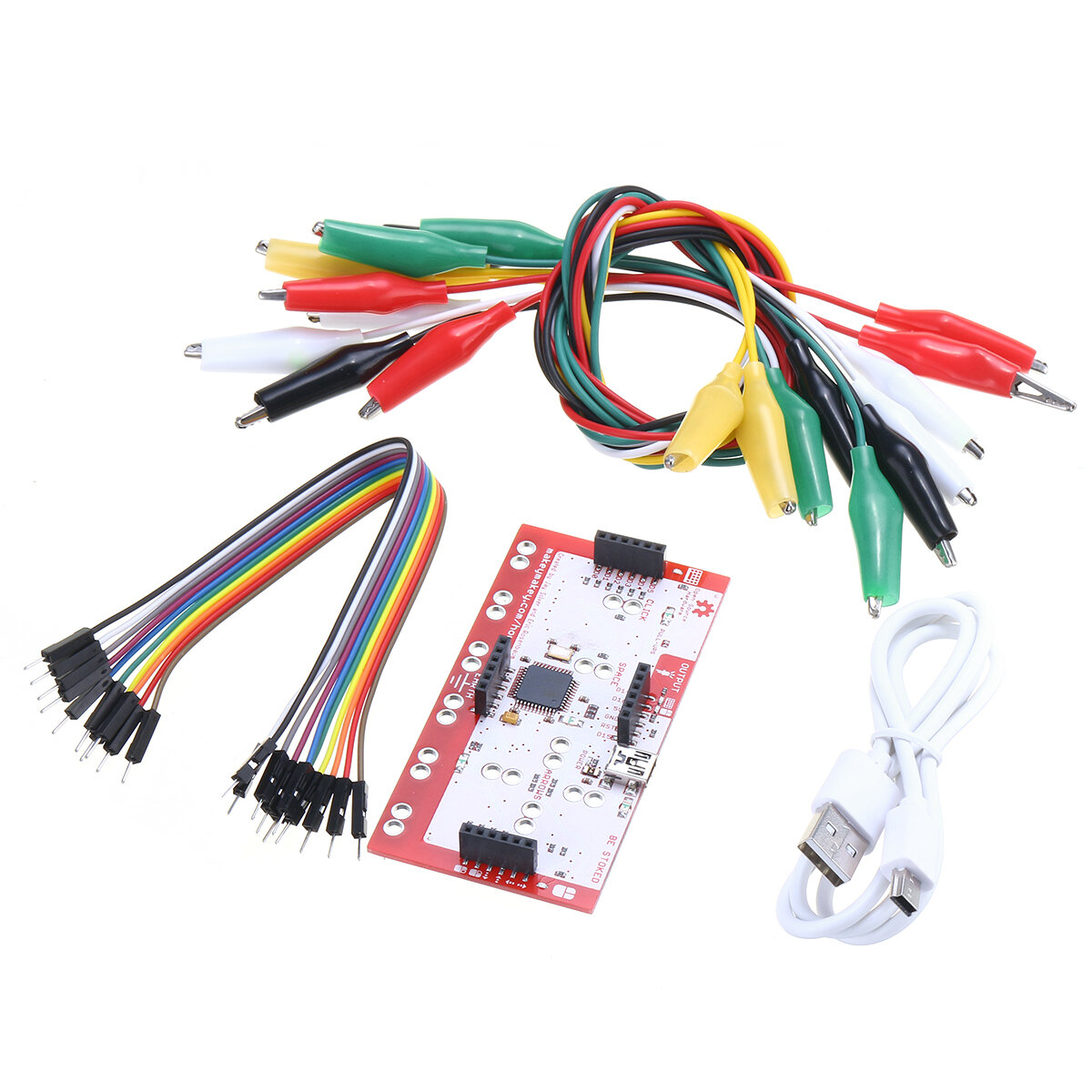 hight resolution of alligator clip jumper wire standard controller board kit for makey makey science toy