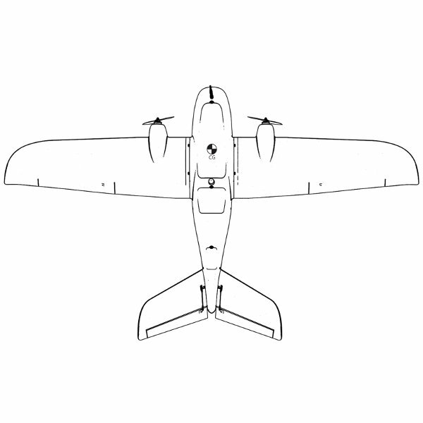 believer 1960mm wingspan epo portable aerial survey