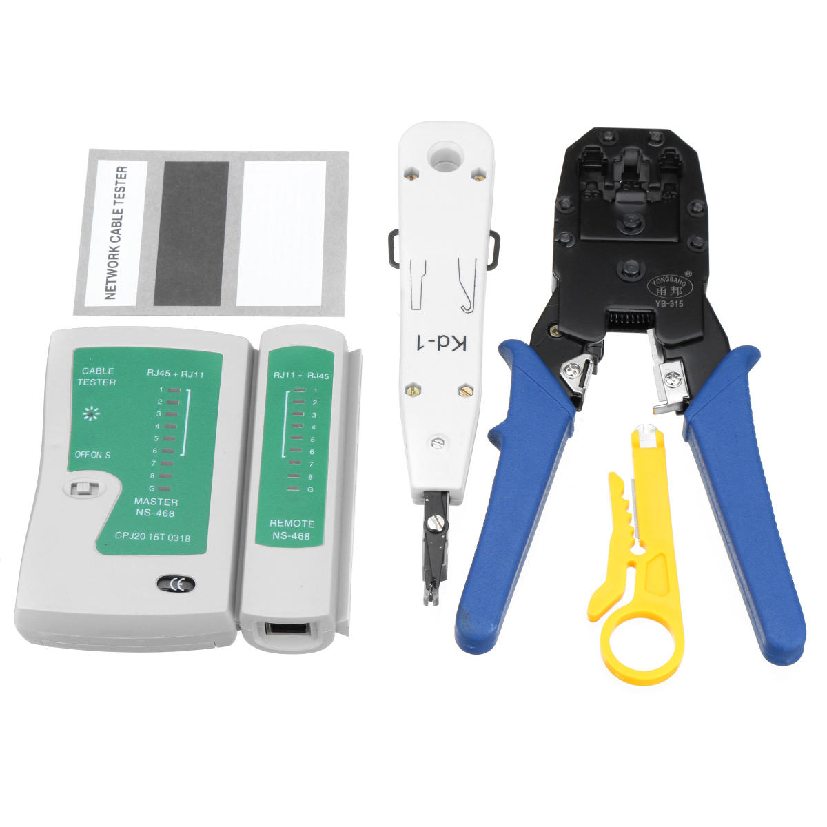 hight resolution of network ethernet lan rj11 rj45 cat5 cat6 cable tester wire tracker tool kit cod