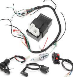 150cc 200cc 250cc wiring harness loom solenoid coil regulator cdi for atv quad bike [ 1200 x 1200 Pixel ]
