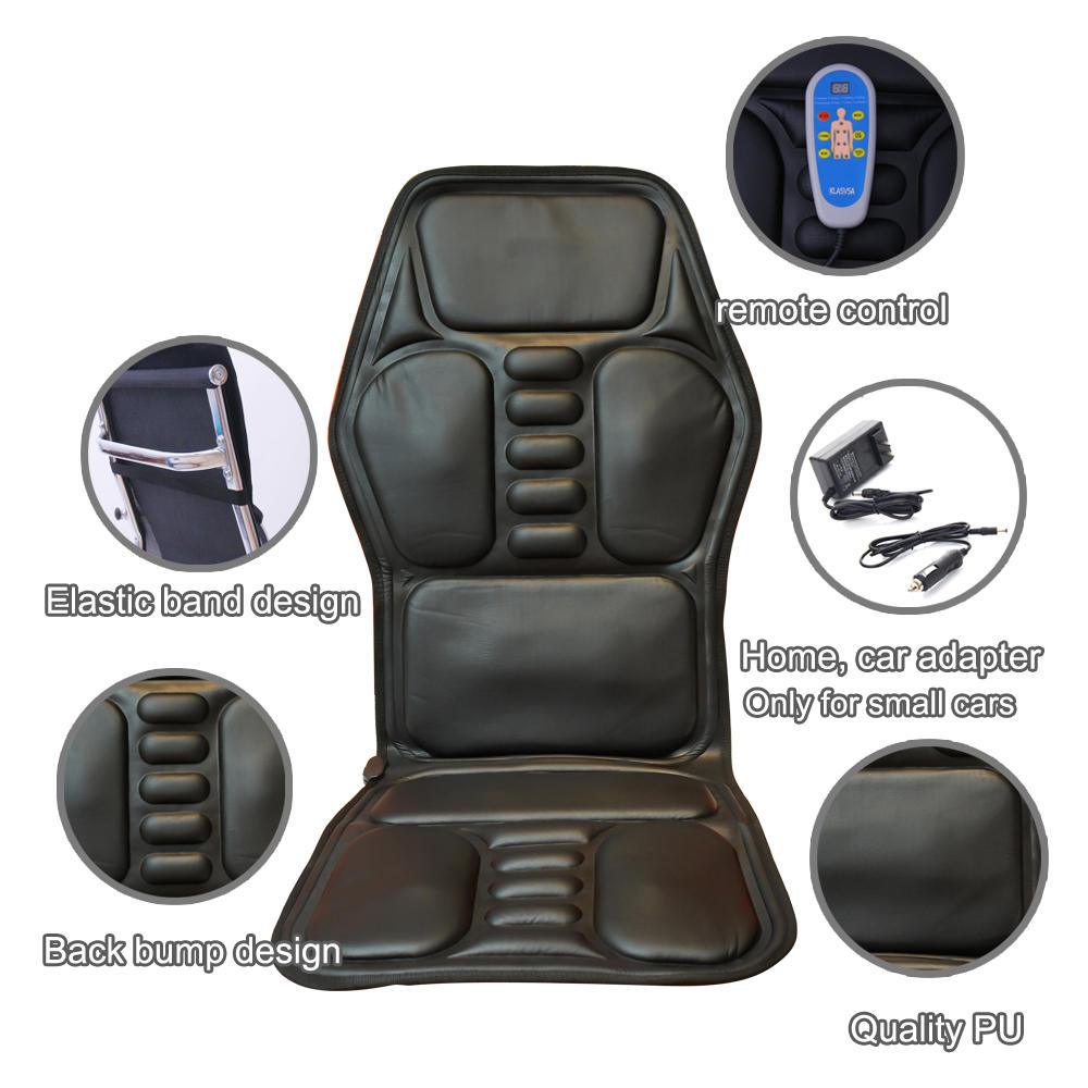 Massage Office Chair Heated Back Electric Massage Chair Seat Car Home Office Seat Massager Heat Vibrate Cushion Back Neck Massage Chair Massage Relaxation