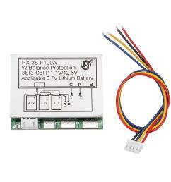 3s 11 1v high current 100a 3 7v lithium battery protection board wiring a 400 amp service 11 1v wiring diagram [ 1000 x 1000 Pixel ]