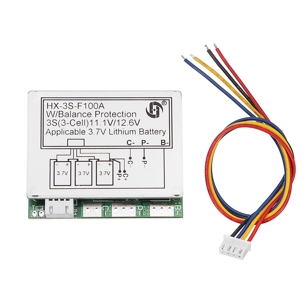 medium resolution of 3s 11 1v high current 100a 3 7v lithium battery protection board wiring a 400 amp service 11 1v wiring diagram