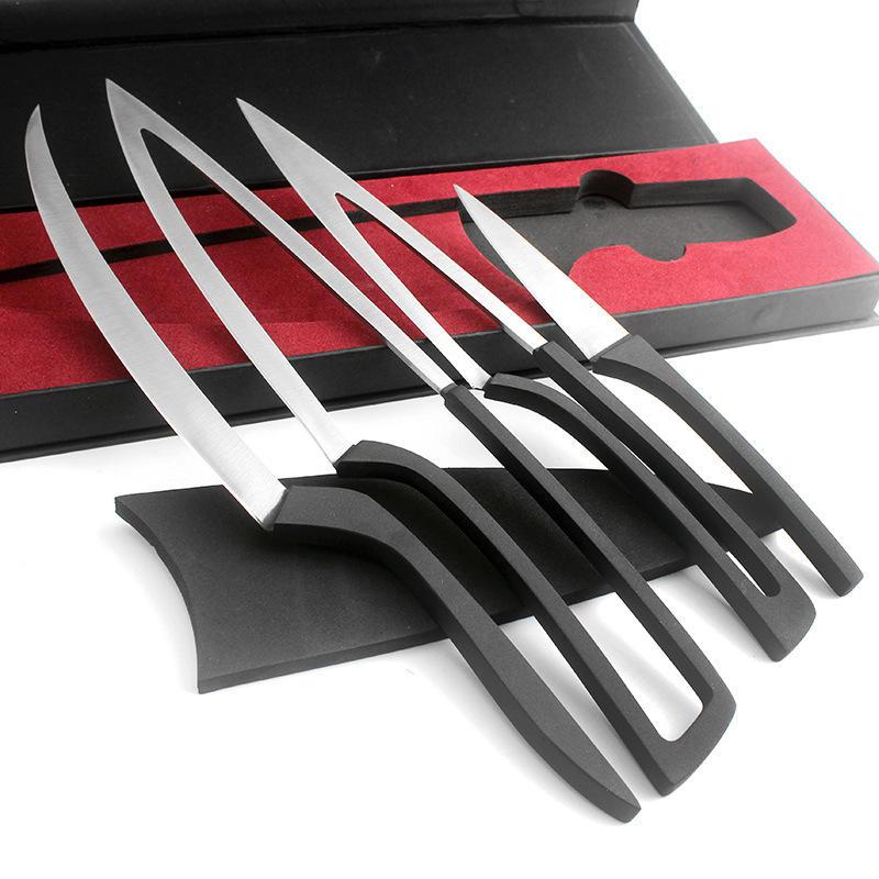 kitchen knives sets slim trash can for kcasa kc kf38 overlap multi 4pcs set camping customer also viewed