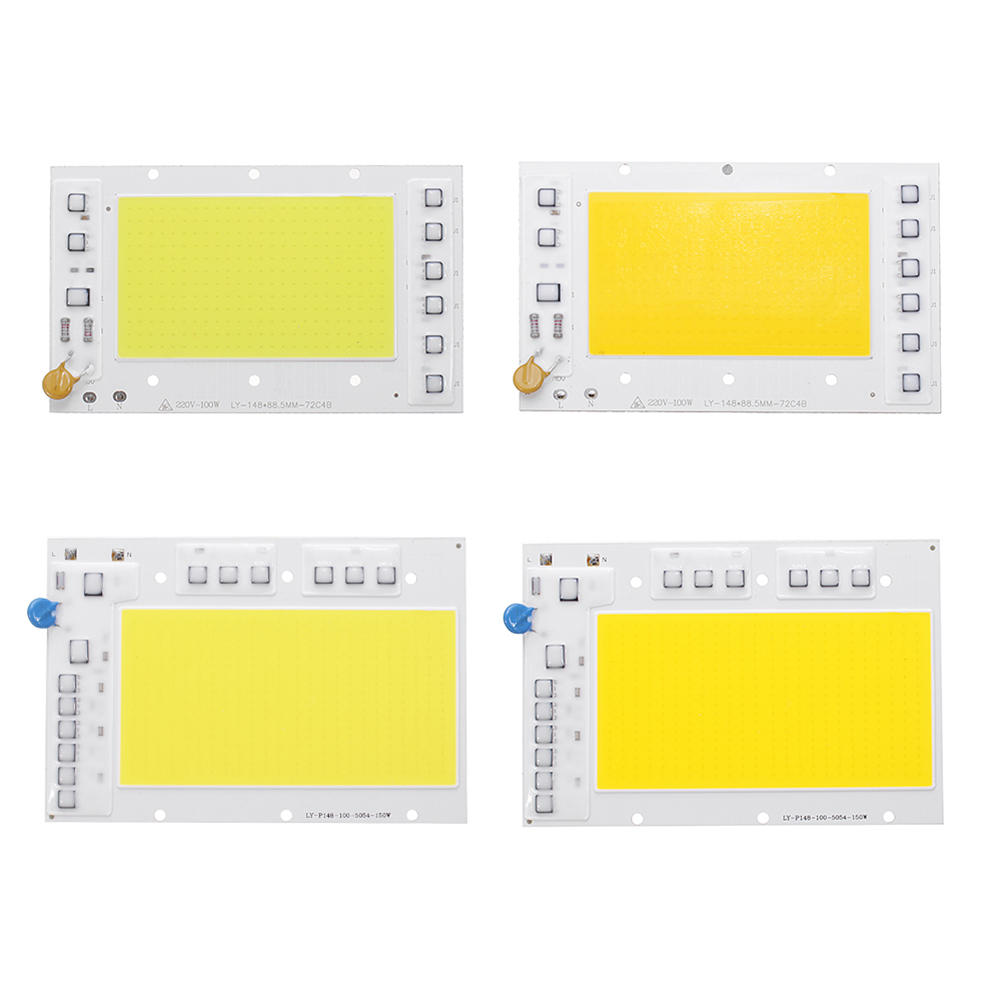hight resolution of 100w 150w ip65 smart ic no need driver cob diy led chip white warm white for floodlight ac170 260v