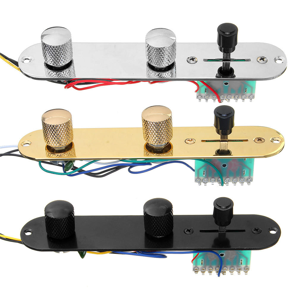 medium resolution of telecaster guitar panel direct control plate 3 way loaded switch wiring harness knobs chrome gold black