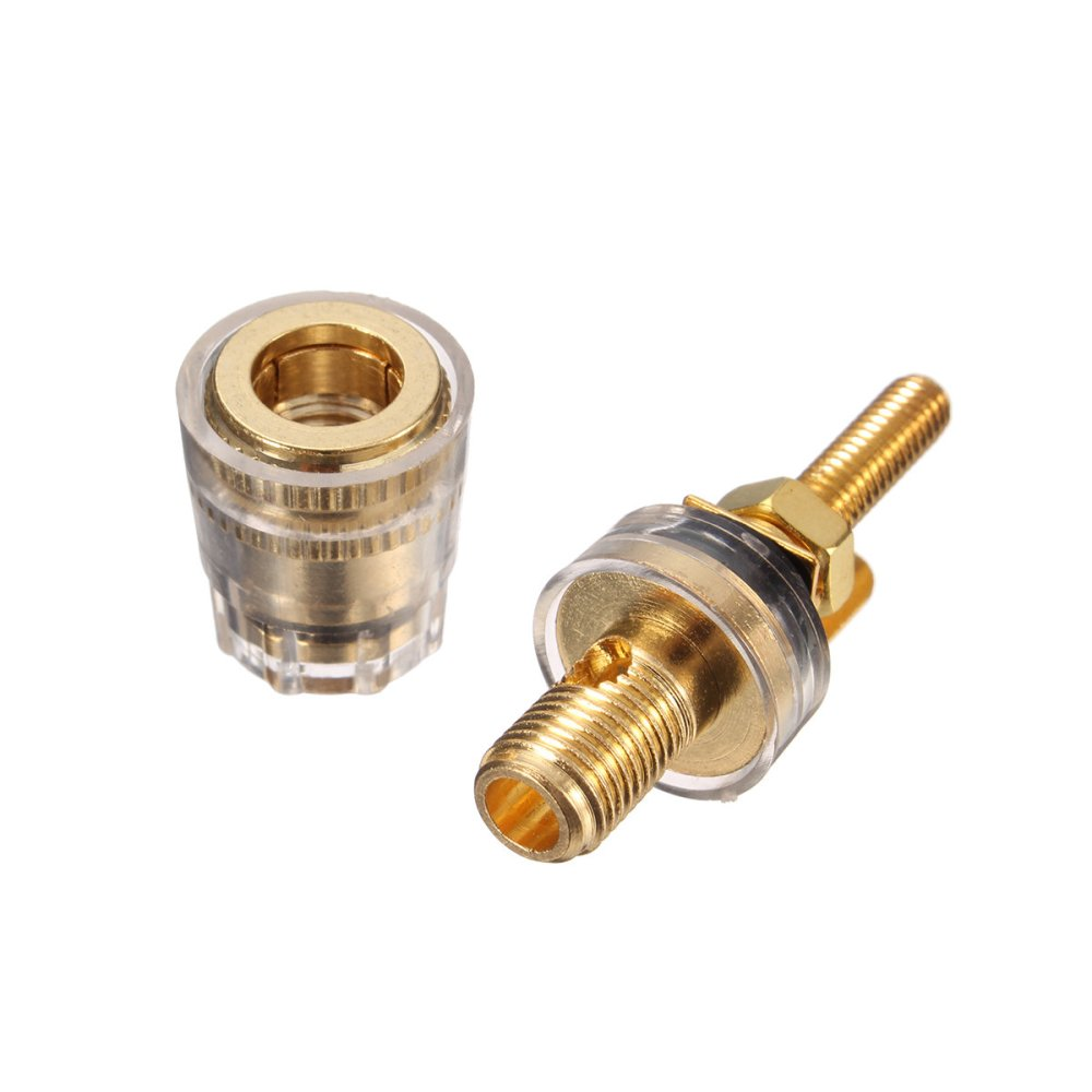 medium resolution of copper crystal audio speaker amplifier terminal for 4mm banana plug sale banggood com sold out