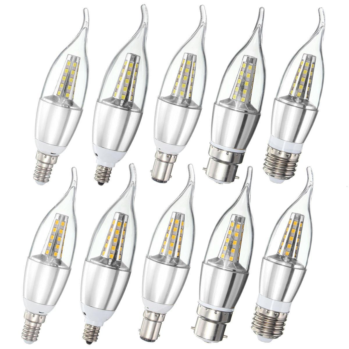 E27 E14 E12 B22 B15 6w 35 Smd Led Warm White White Candle Light Lamp Bulb Ac85 265v Sale