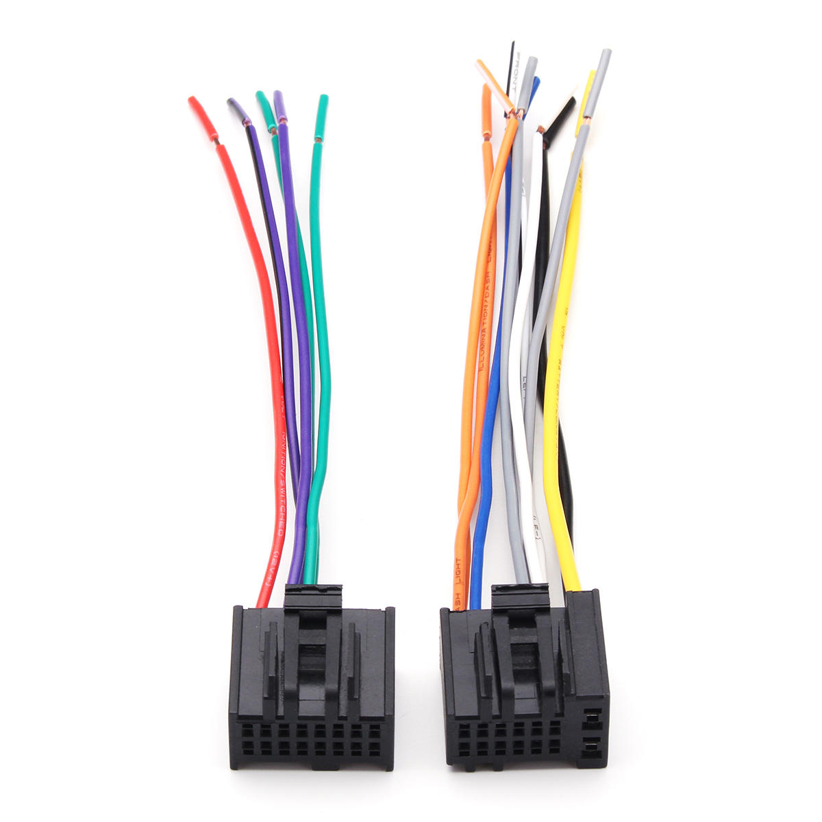 hight resolution of 2pcs car radio stereo speaker wiring harness plug cable for chevrolet 2005 2016 cod