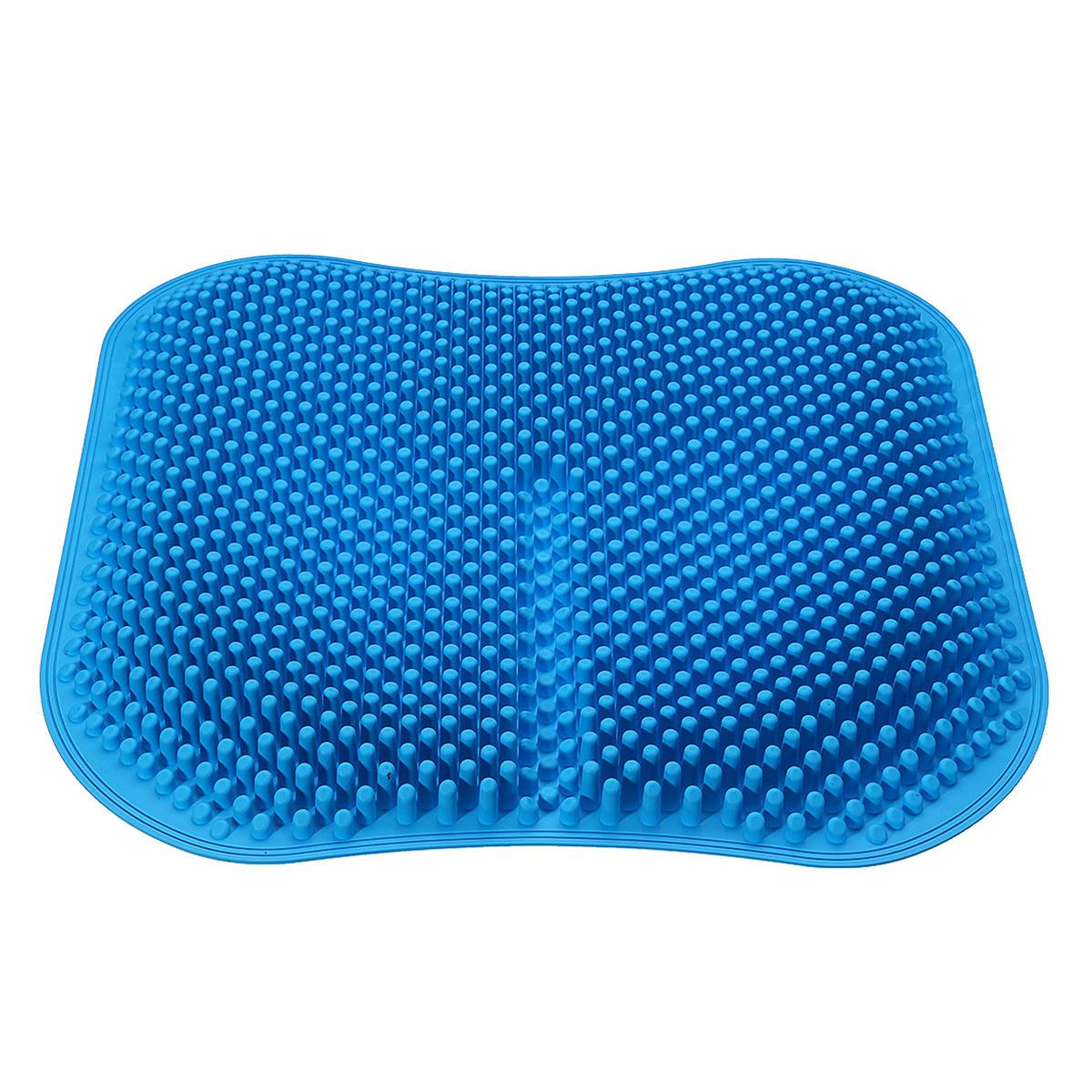 massage chair pad for car glider rocking canada 3d seat cushion silicone mat