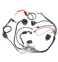 wiring harness loom solenoid coil rectifier cdi 50cc 70cc 110cc 125cc atv quad bike go kart [ 1200 x 1200 Pixel ]