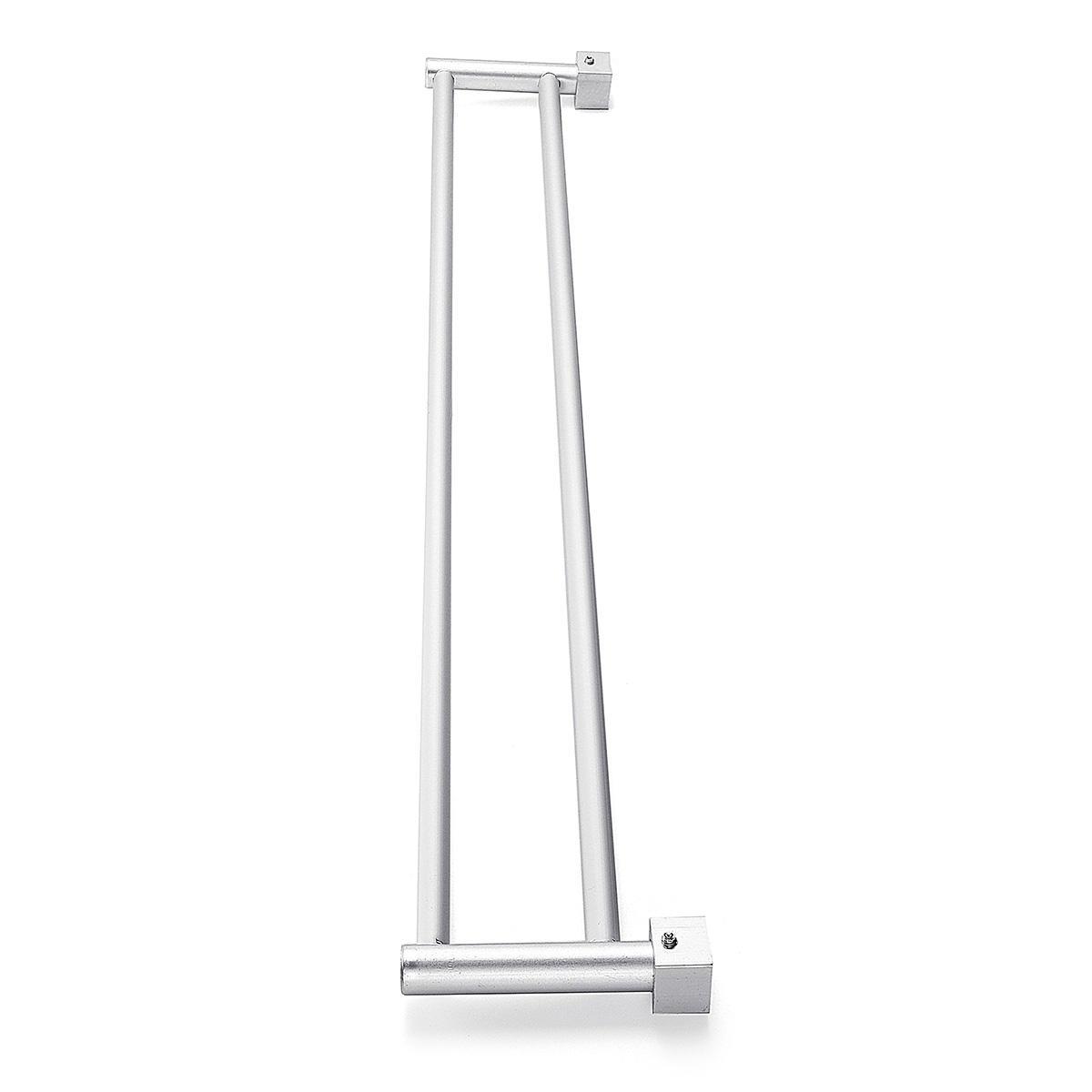 Bathroom Double Towel Rail Rack 2 Bar Space Aluminum