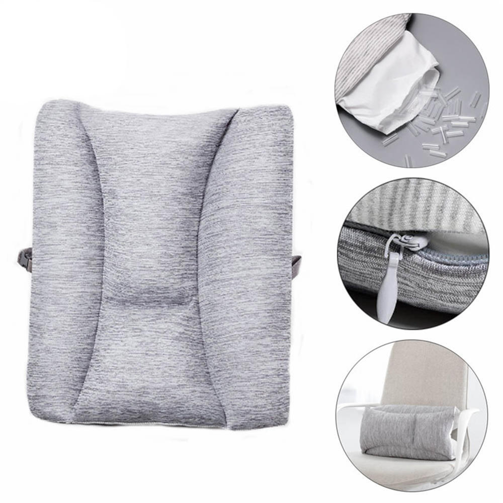 Lumbar Support Pillow For Chair Xiaomi 8h Adjustable Lumbar Cushion Back Support Pillow Cushion Home Office Car Sofa Seat Supports Chair Pillow Sofa Waist Cushion