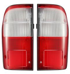car left right rear tail light brake lamp with wire harness for toyota hilux mk4 d4d 1997 2006 [ 1200 x 1200 Pixel ]
