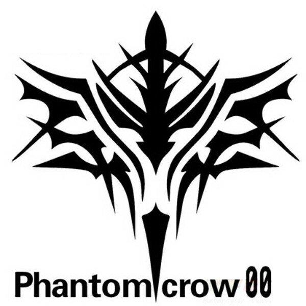 Shopee Plaza : Motorcycle Car Sticker Phantom Crow 12x12cm