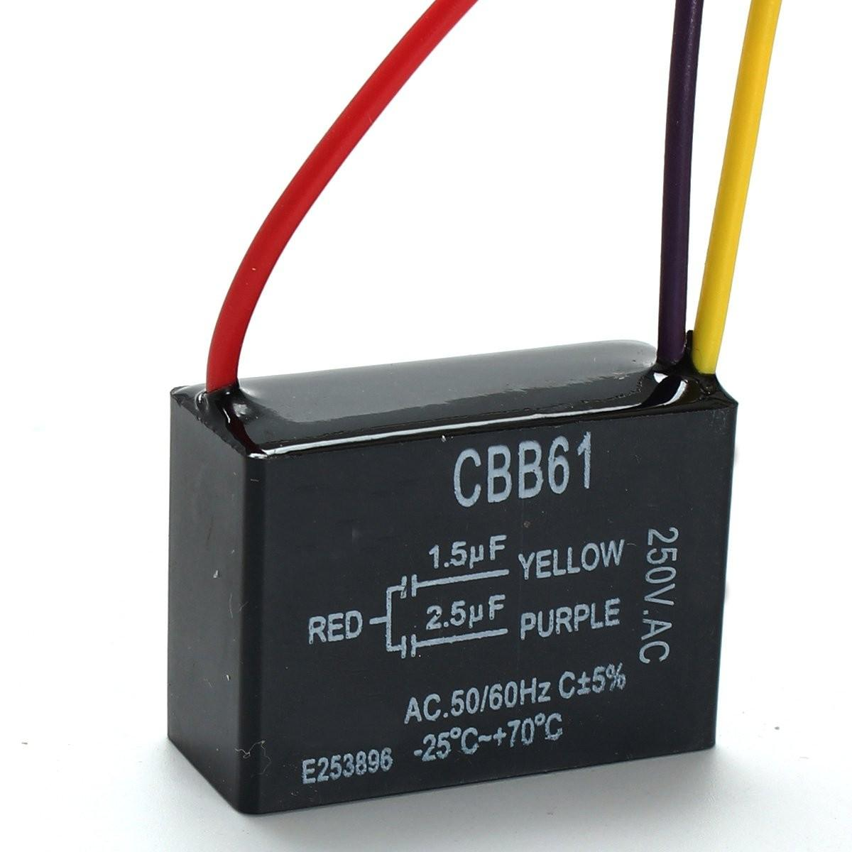 hight resolution of cbb61 1 5uf 2 3 wire 250vac ceiling fan capacitor wires cod