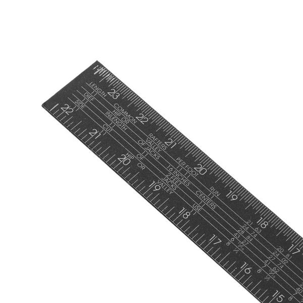 Drillpro Black Steel Double-sided Metric Angle Ruler 90 Degree Corner