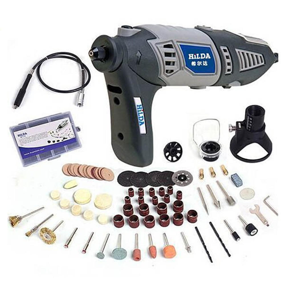 medium resolution of hilda 220v 170w variable rotary tool electric grinder mini dril lwith flexible shaft and 91pcs accessories