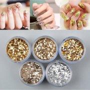 gold nail art glitter dust powder