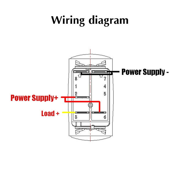ip68 12-24v 5pin on / off rocker switch led cooling fan