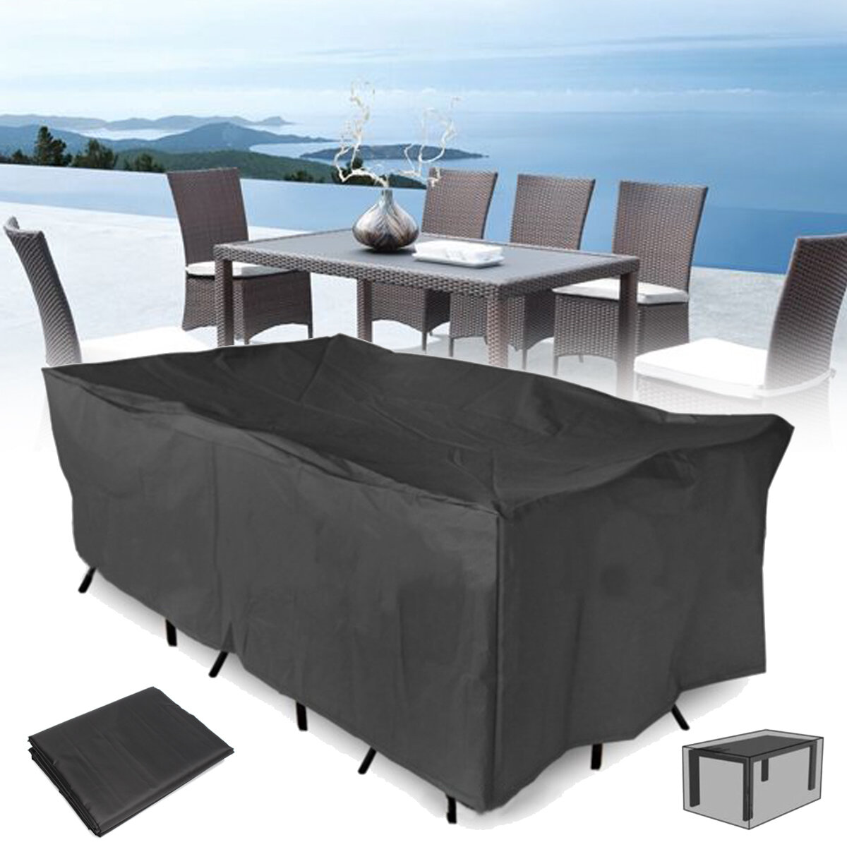 sofa waterproof cover decorating a table 320x220x70cm outdoor garden patio furniture dust customer also viewed