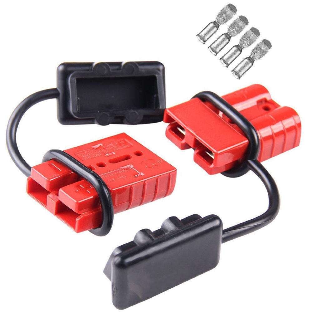 medium resolution of 2pcs 50a 600w battery quick connect disconnect wire harness plug connector kit winch trailer