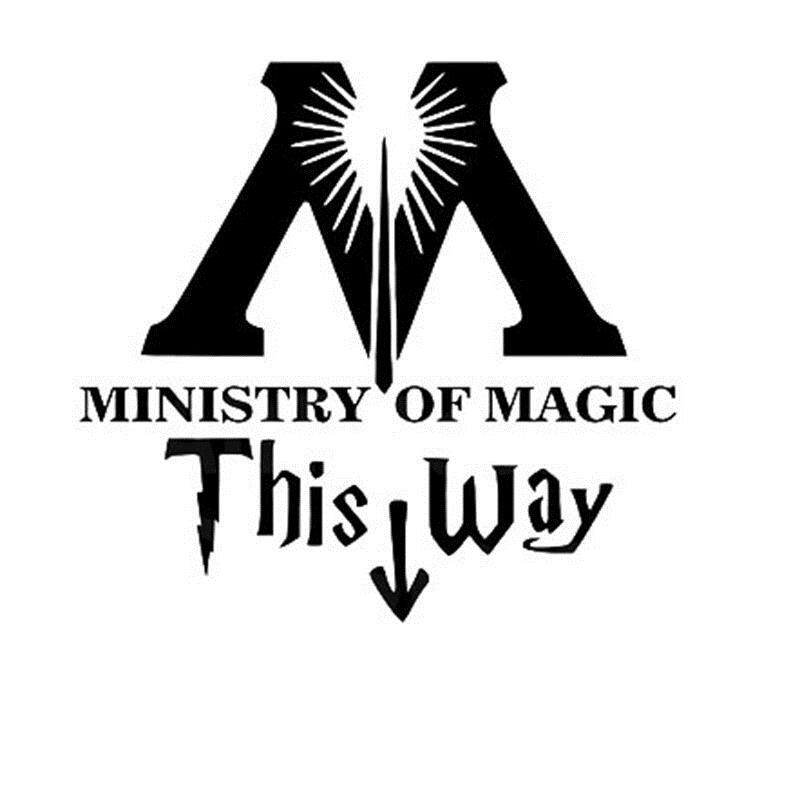 ministry of magic bathroom wall sticker home decor toilet